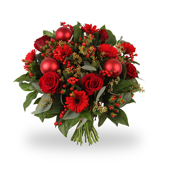 Christmasbouquet Happy Red medium