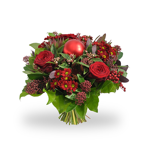 Christmasbouquet Red Green medium