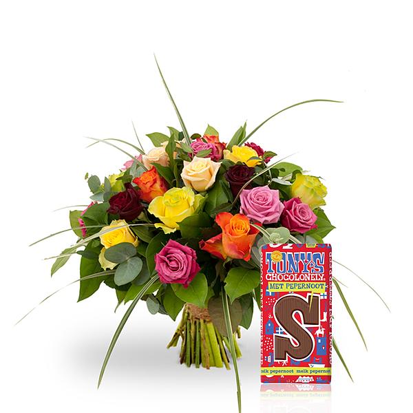 Mixed roses standaard met Tony S