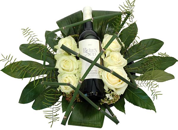 Flower arrangement with white wine order and deliver topbloemen flower arrangement with white wine mightylinksfo