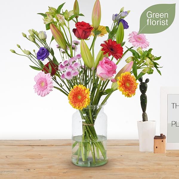 Green florist boeket Danique groot
