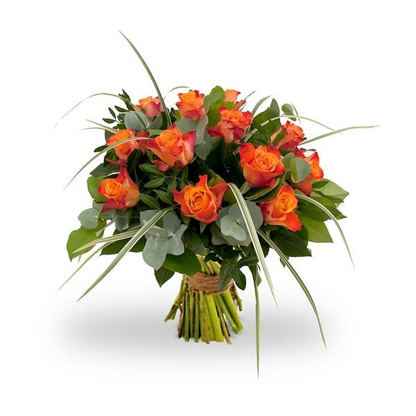 Boeket Rosa Orange standaard