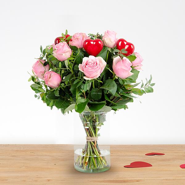 Boeket Romy love roze klein