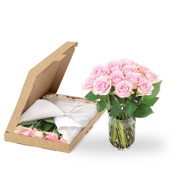 Brievenbus bloemen roze rozen