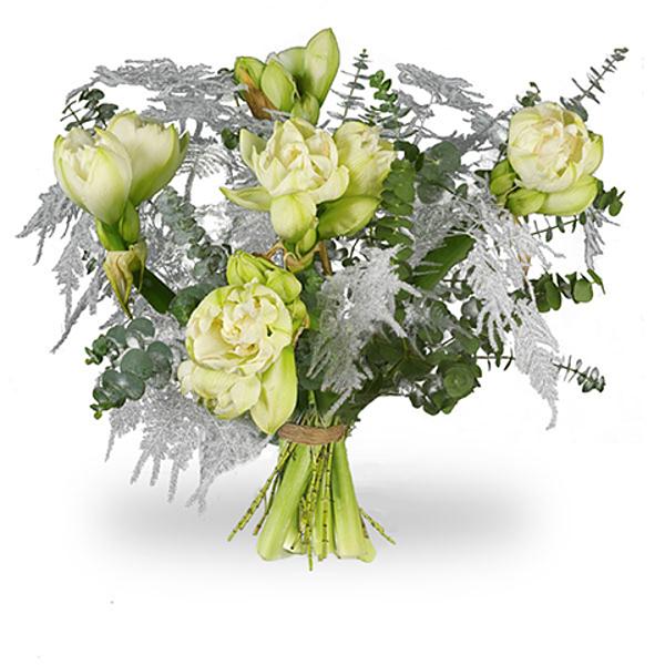 Boeket Amaryllis wit groot