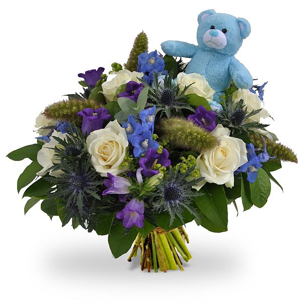 Boy bouquet XL + teddy