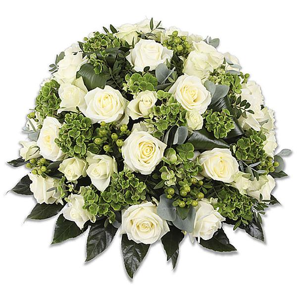 Funeral biedemeier white standard