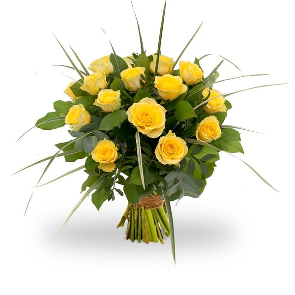 Bouquet yellow roses large
