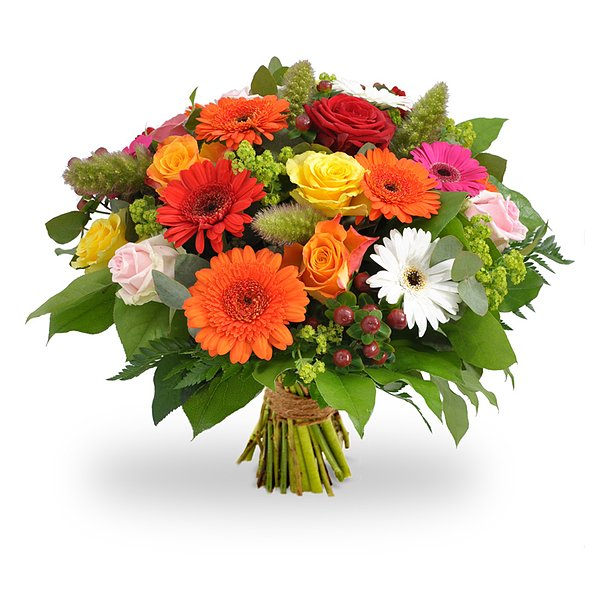 Colorful bouquet order and deliver