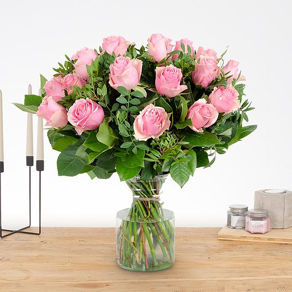Boeket Romy roze groot