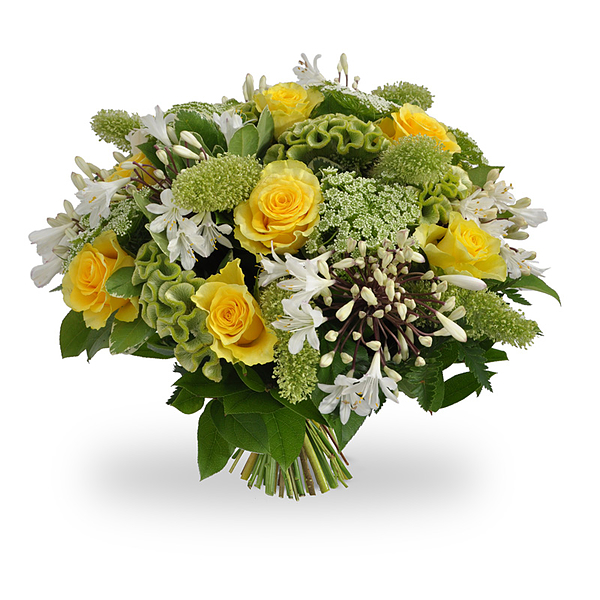 Yellow white bouquet large
