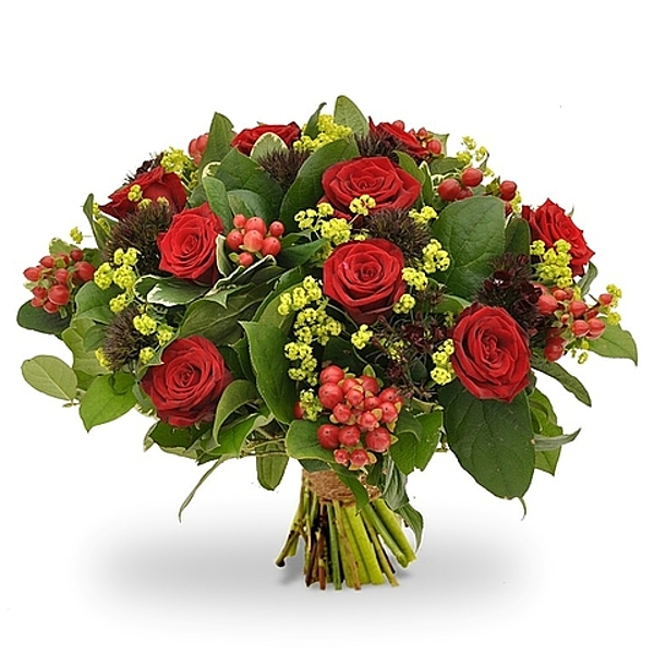 Modern red bouquet standard