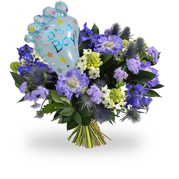 Its a boy bouquet & balloon medium