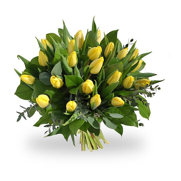 Boeket gele tulpen groot
