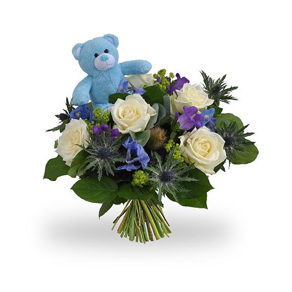 Boy bouquet standard + teddy