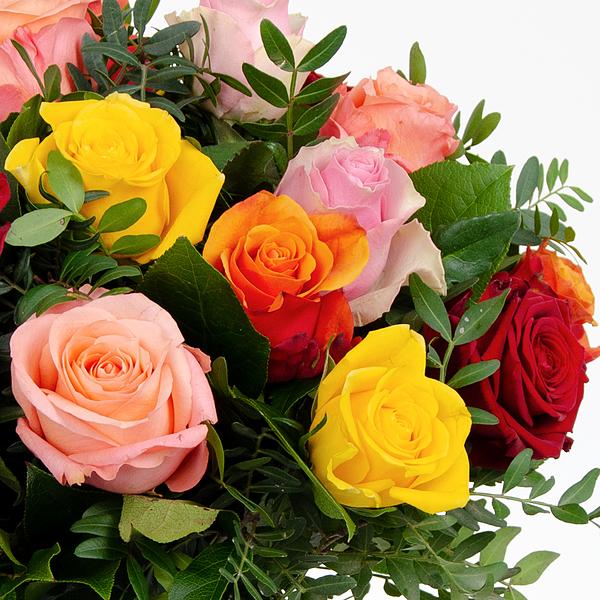 Bouquet mixed roses medium