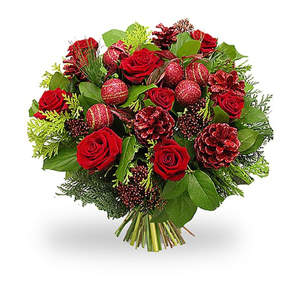 Christmasbouquet red mix medium