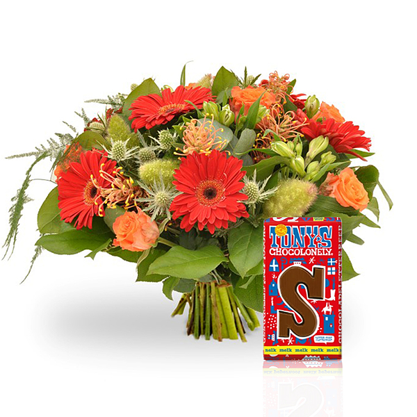 Bouquet with chocolat standard