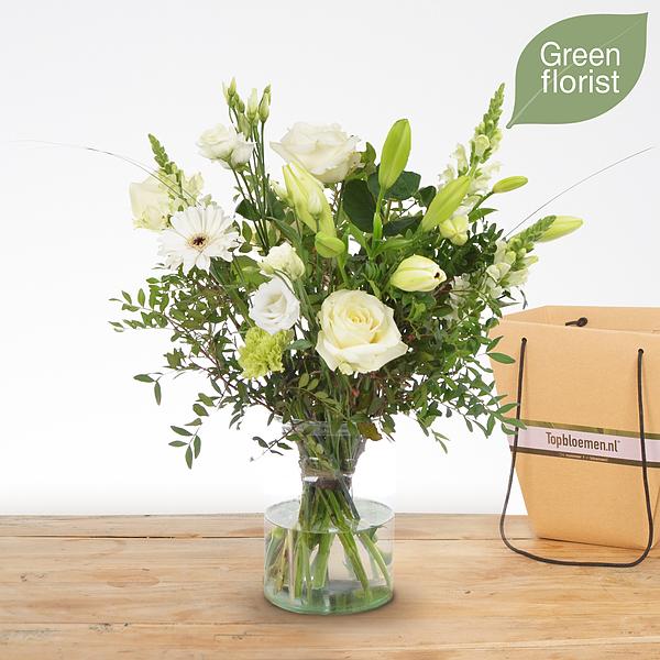 Green florist boeket Lisa klein