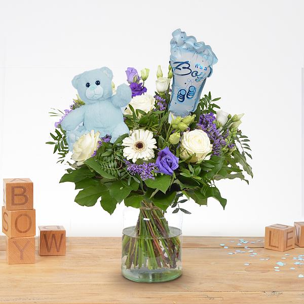 Birth bouquet Jip with ballon and bear XL