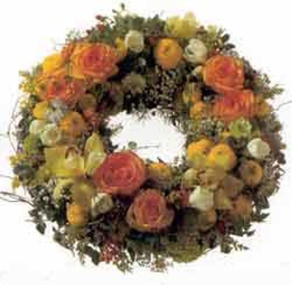 Funeral wreath standard