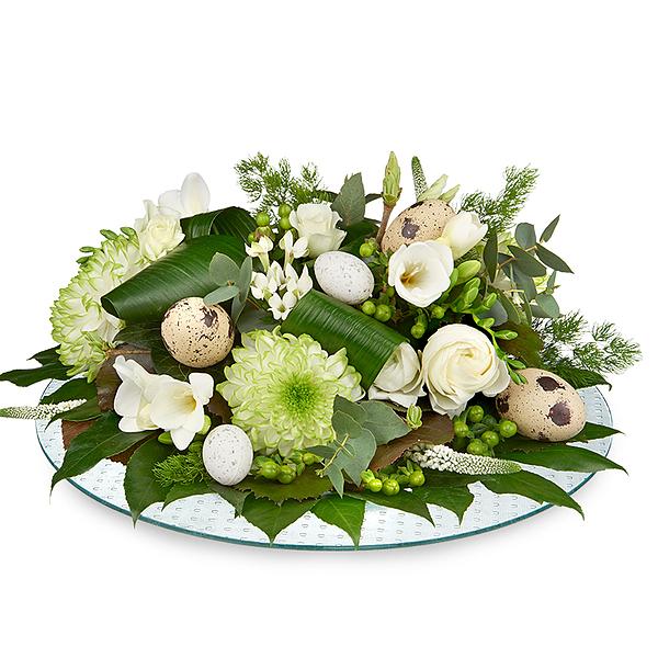 Paas bloemstuk wit