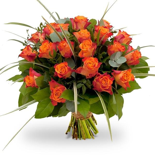 Boeket Rosa Orange XL