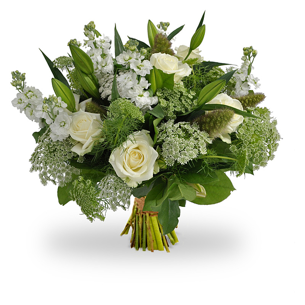 Exclusive white bouquet large