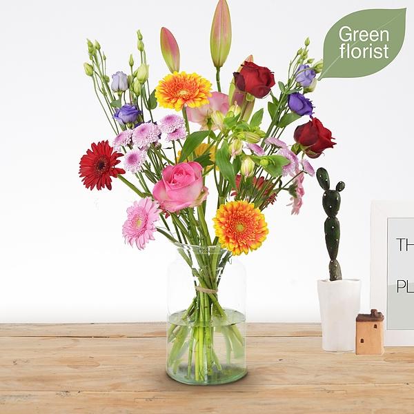 Green florist boeket Danique middel