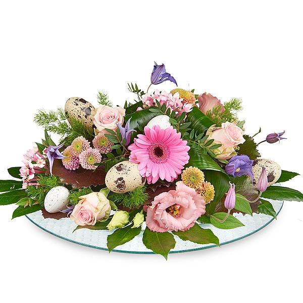 Paasbloemstuk roze