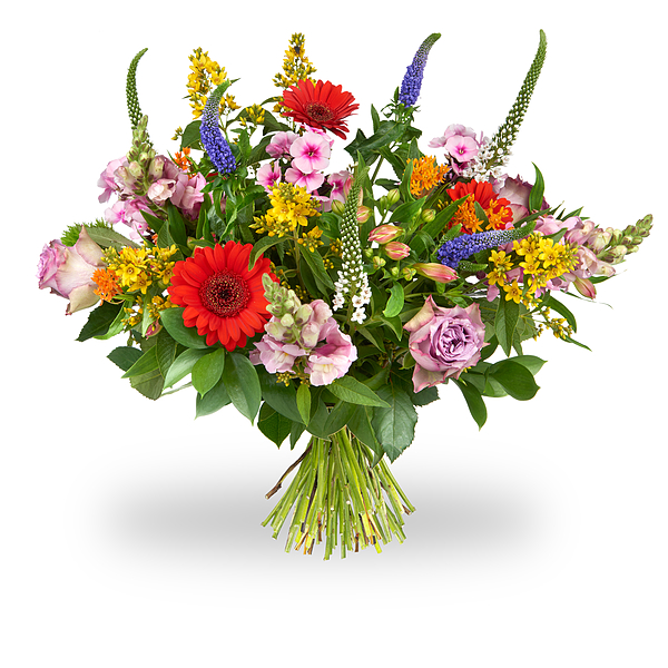 Colorful bouquet of field flowers order and deliver