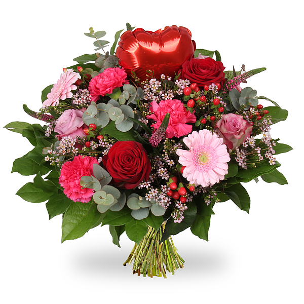 Bouquet Love heart red standard