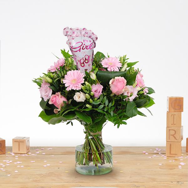 Birth bouquet Nola with ballon XL