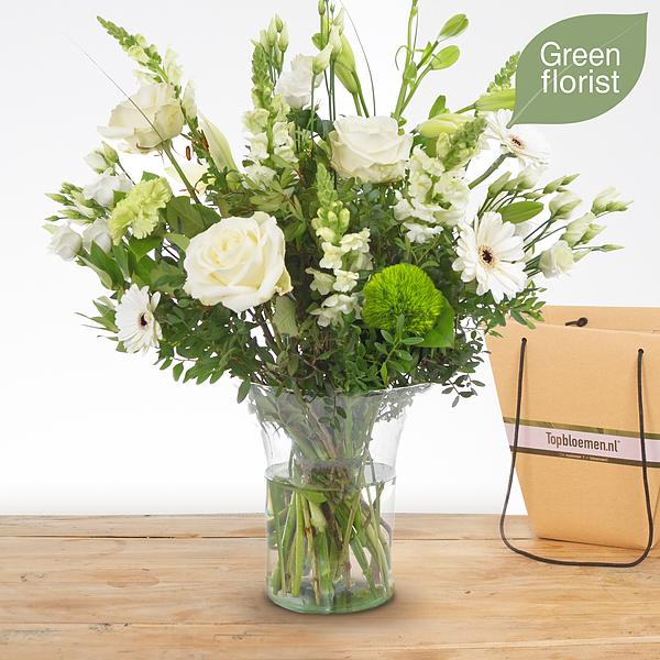 Green florist boeket Lisa middel