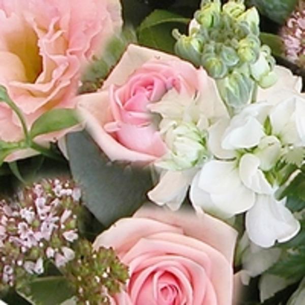 Boeket roze middel