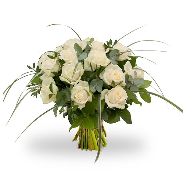 Bouquet white roses Large