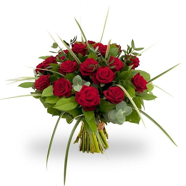 Een prachtig boeket rode rozen. Pure liefde! Zeer geschikt als romantisch cadeau bij bijzondere momenten. De rozen hebben een lengte van +/- 45 cm