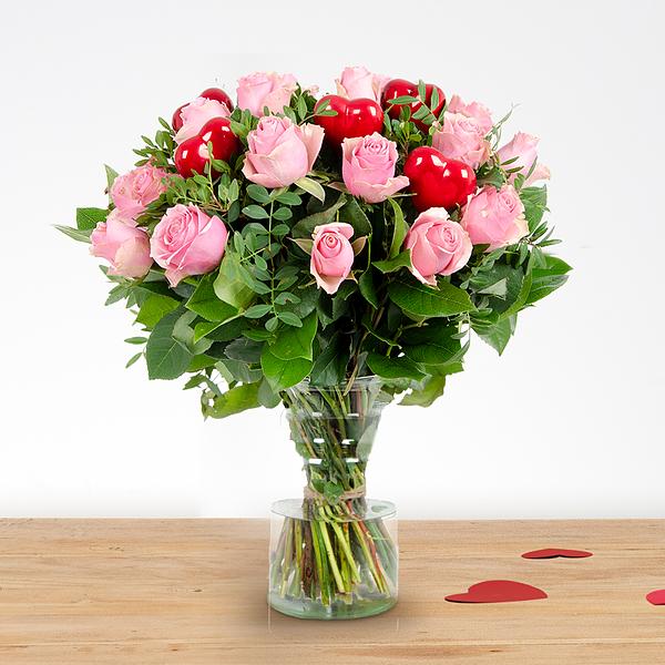 Boeket Romy love roze groot