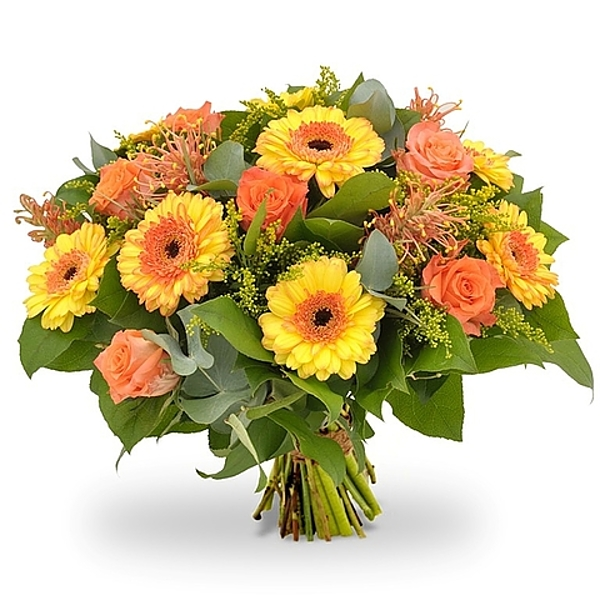 Yellow/orange bouquet standard