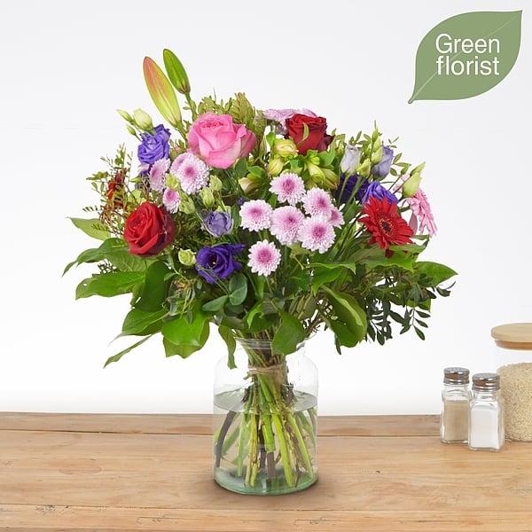 Green florist boeket Maaike middel