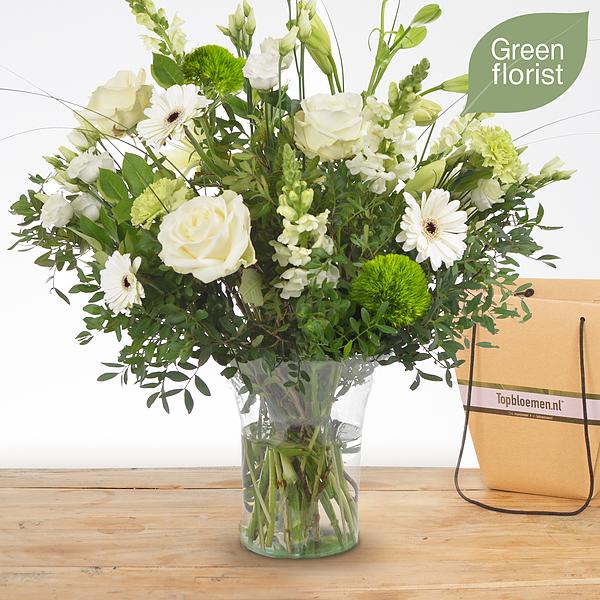 Green florist boeket Lisa groot